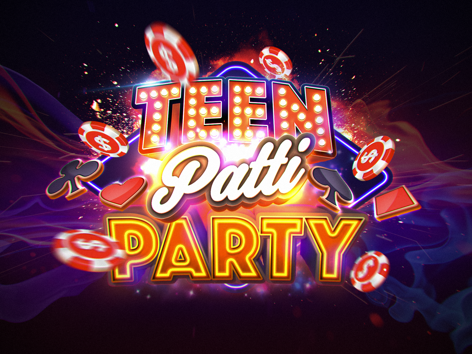 Teen Patti Party Logo