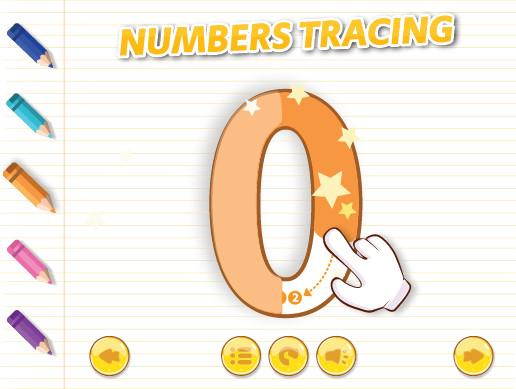English Numbers Tracing 0-9