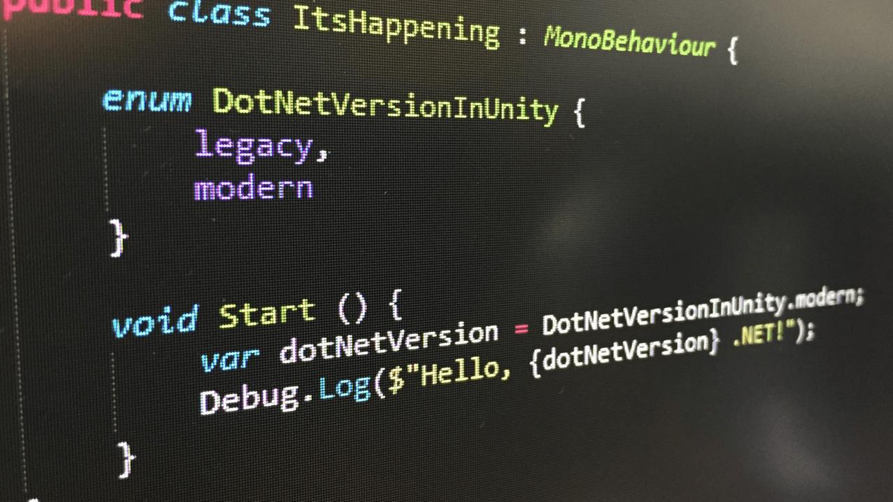 Unity脚本运行时更新带来了什么?