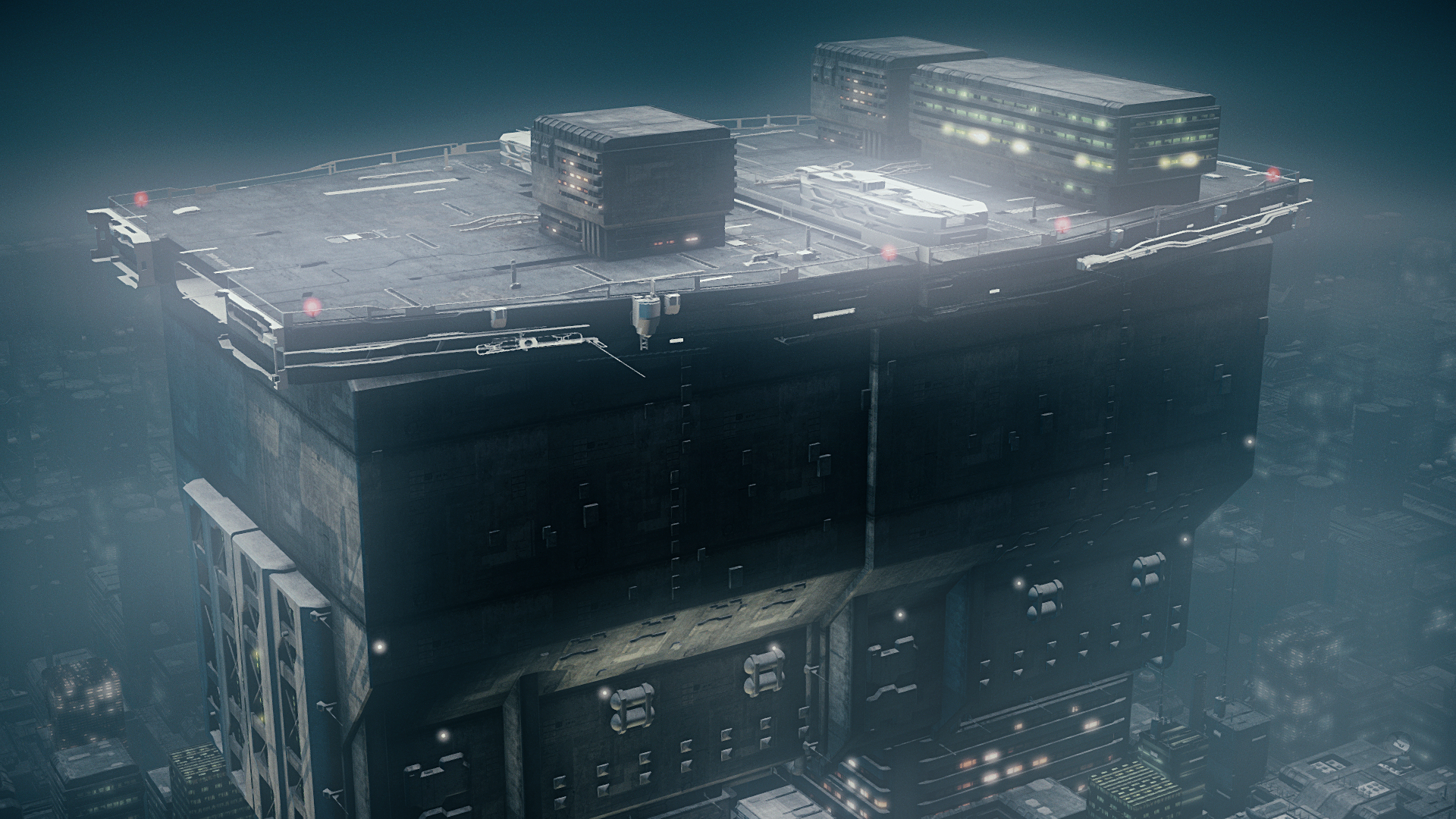 Cyberpunk sci fi environment