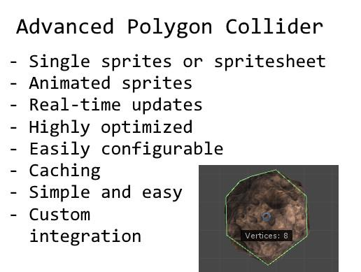 Advanced Polygon Collider