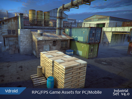 RPG/FPS game assets set v4 industrial (available on assetstore)