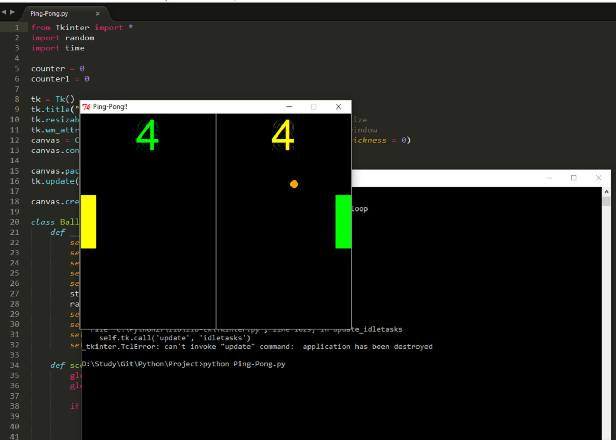 Python ping server