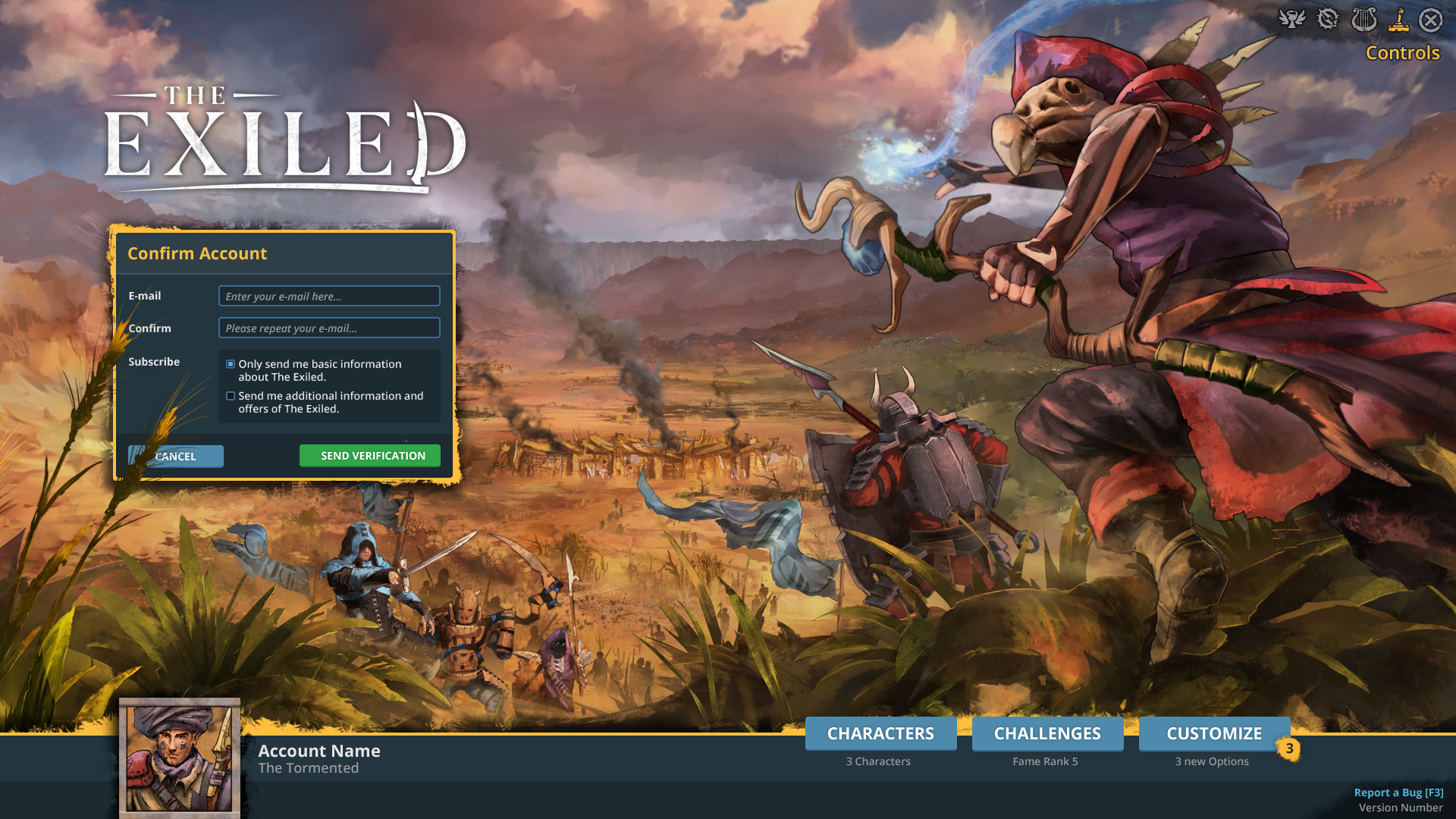The Exiled - UI Design