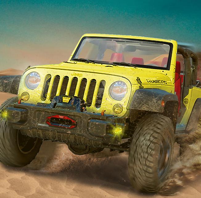Futuristic Jeep Desert Safari Rally Racer