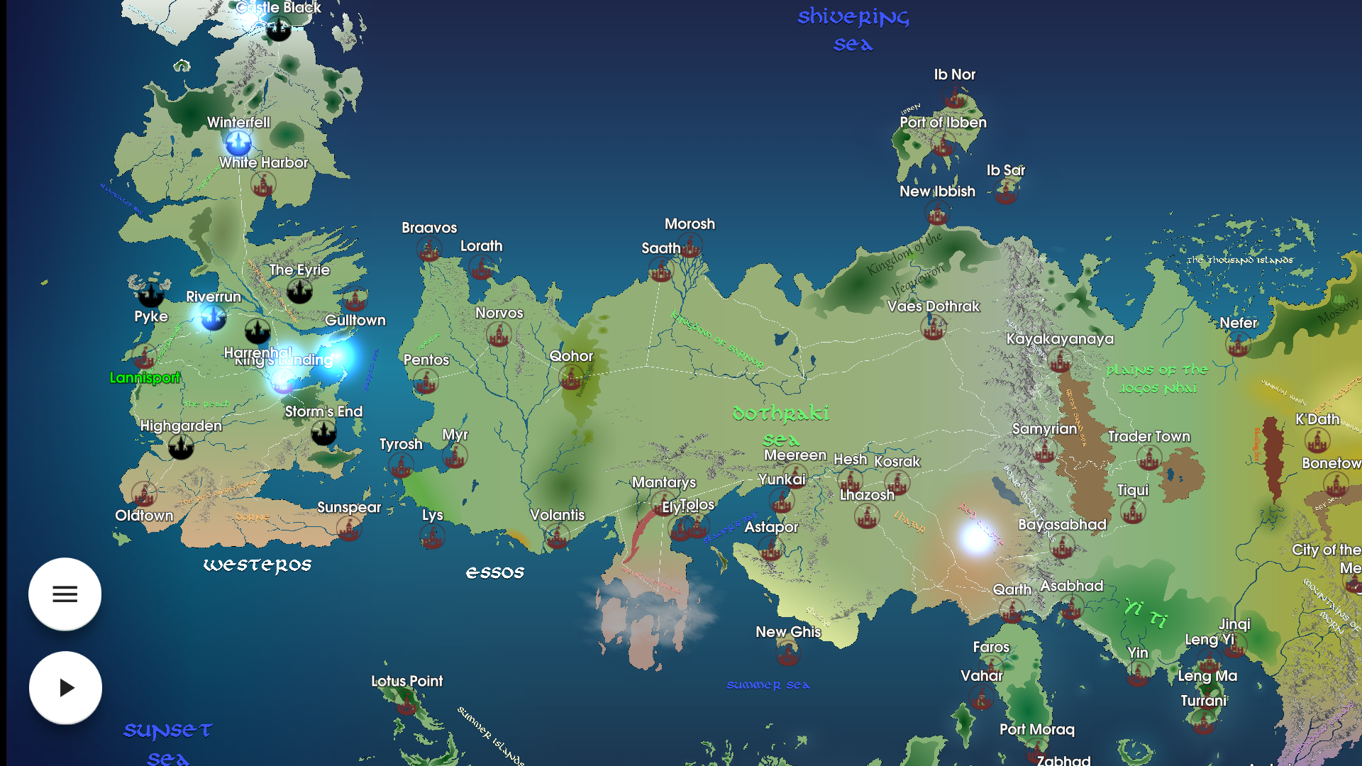 Map for Game of Thrones