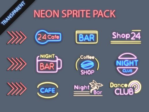 2D Neon Pack
