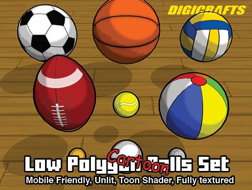 Low Polygon Ball Set