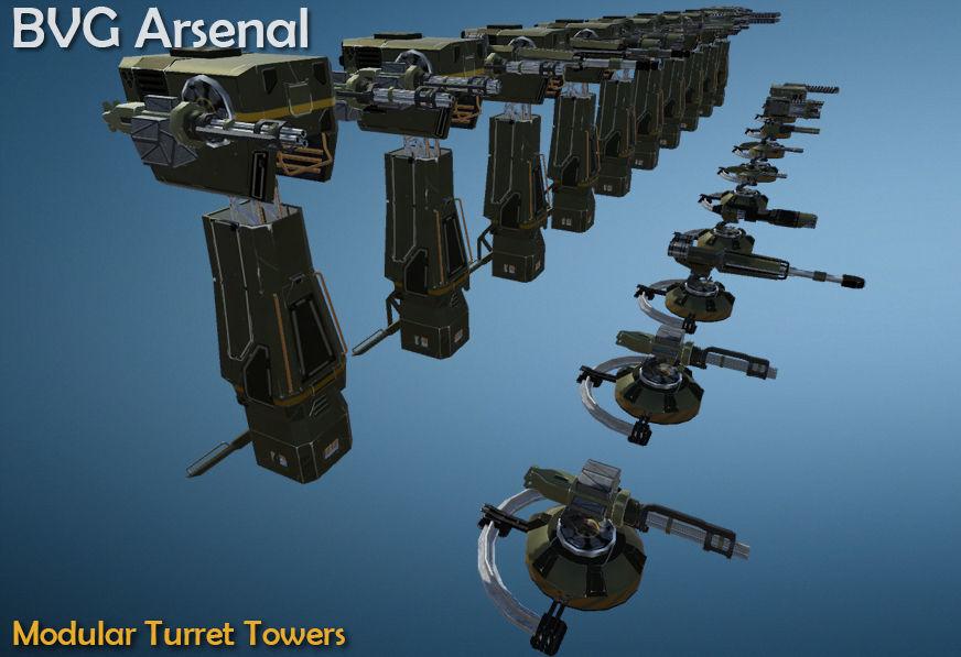 Modular Turret Towers
