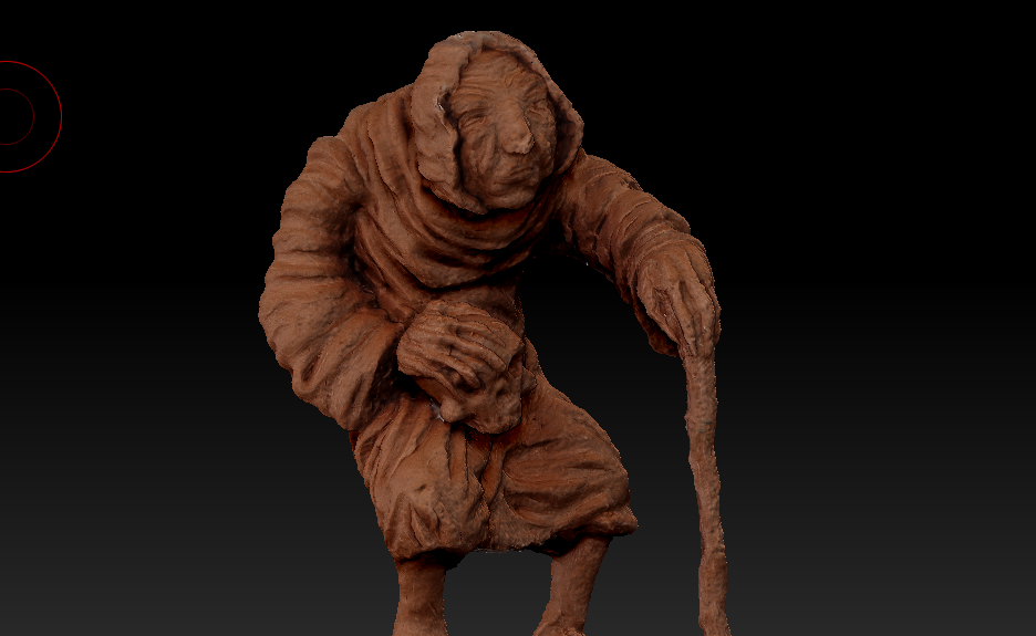 From sculpture to 3D model with Photogrammetry
