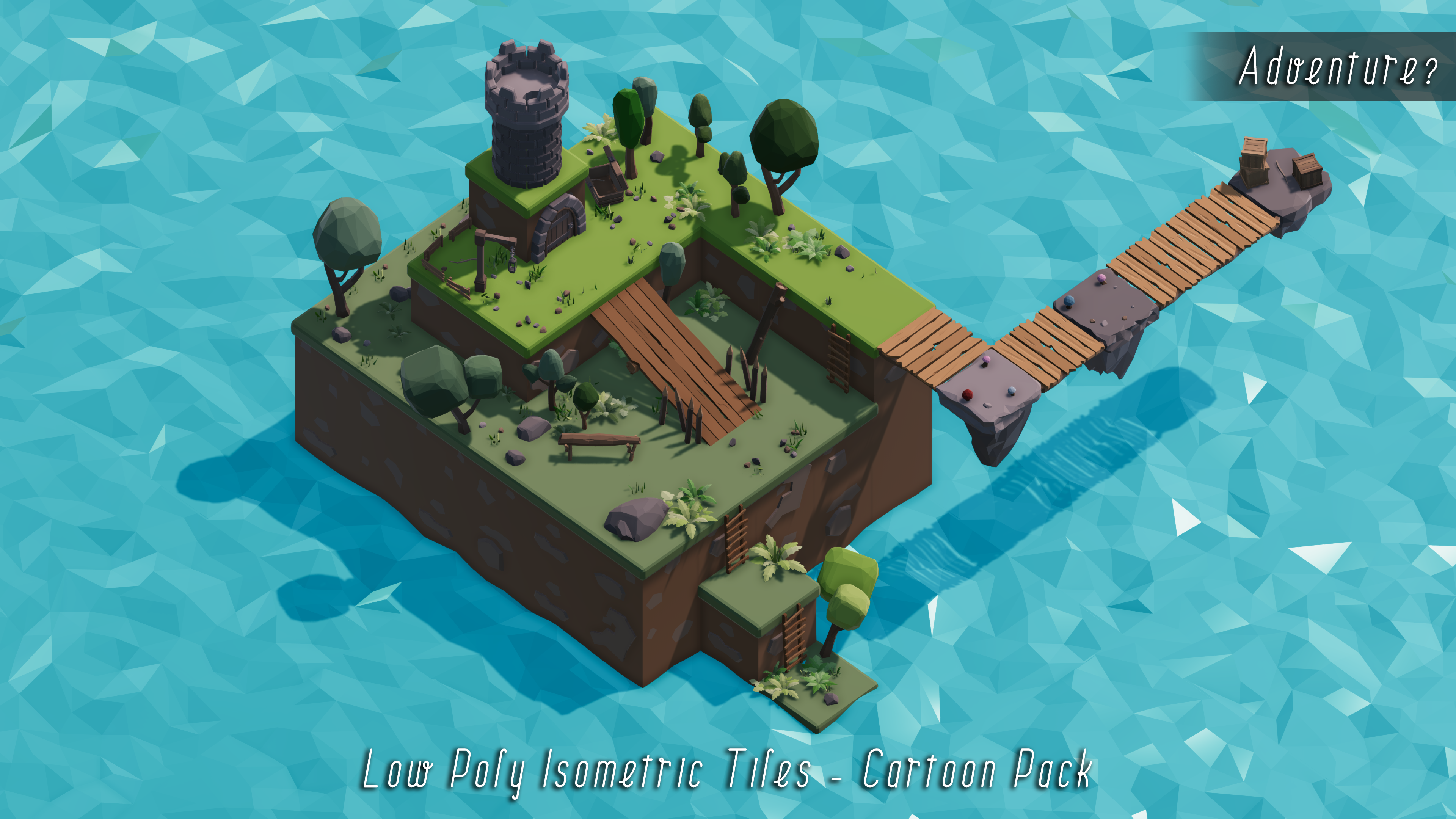 Low Poly Isometric Tiles - Cartoon Pack