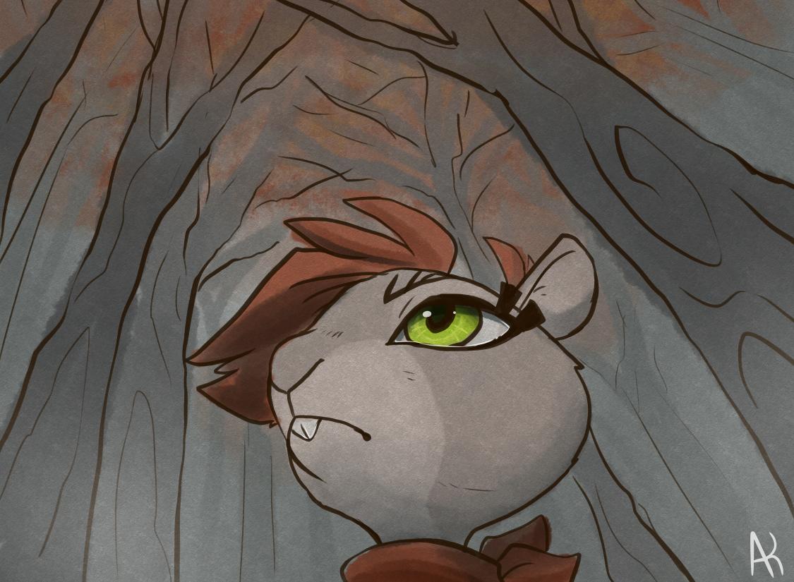 Ninja Squirrel Character