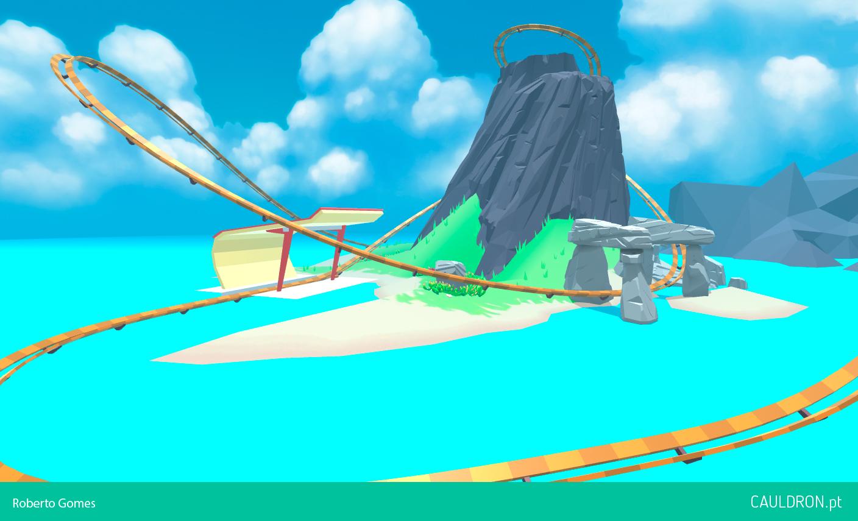 Cauldron's Island   VR Roller Coaster