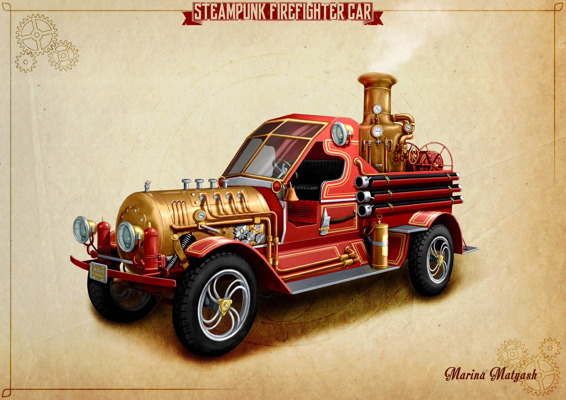 Steampunk Firecar