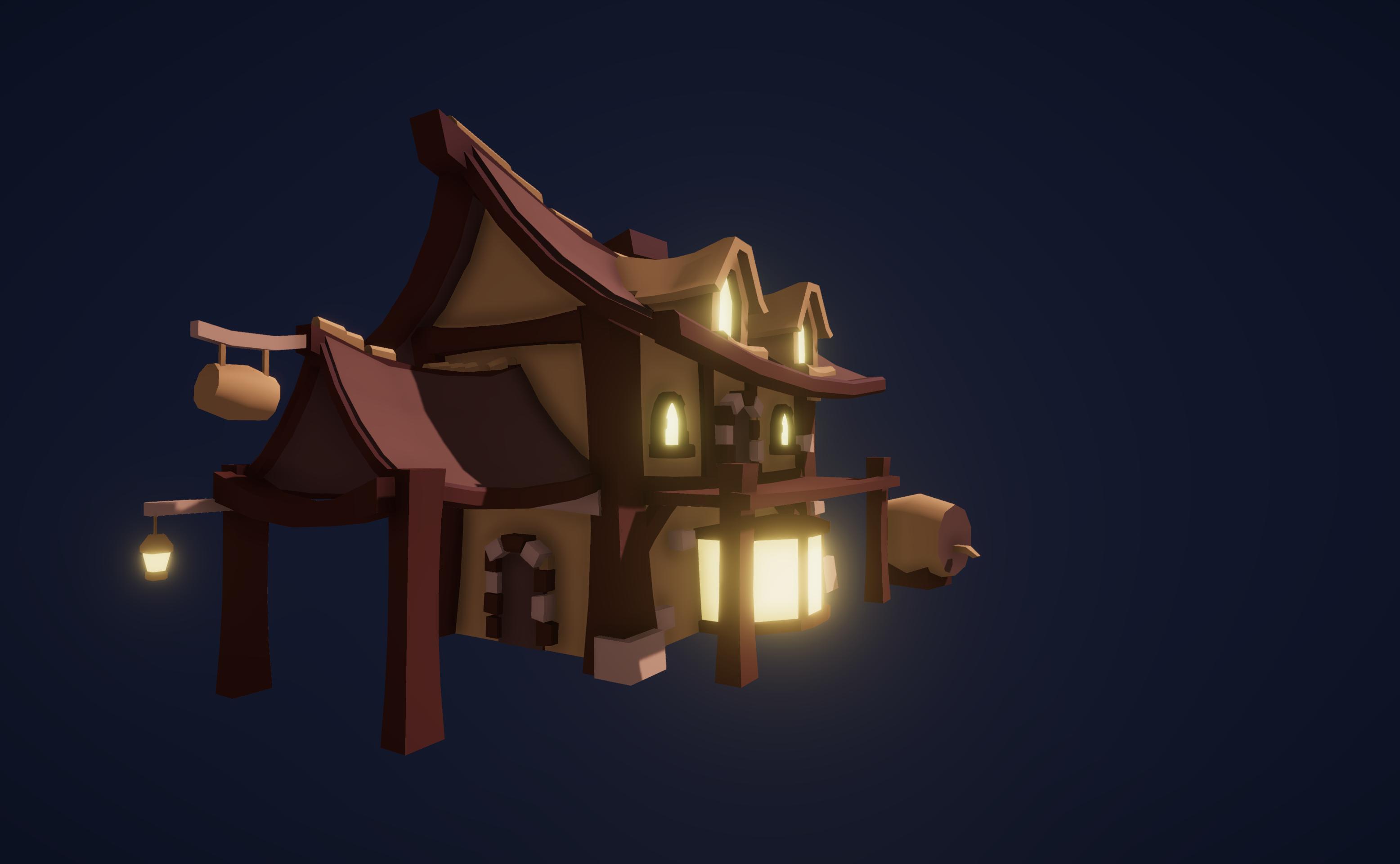 Fantasy Tavern - LowPoly