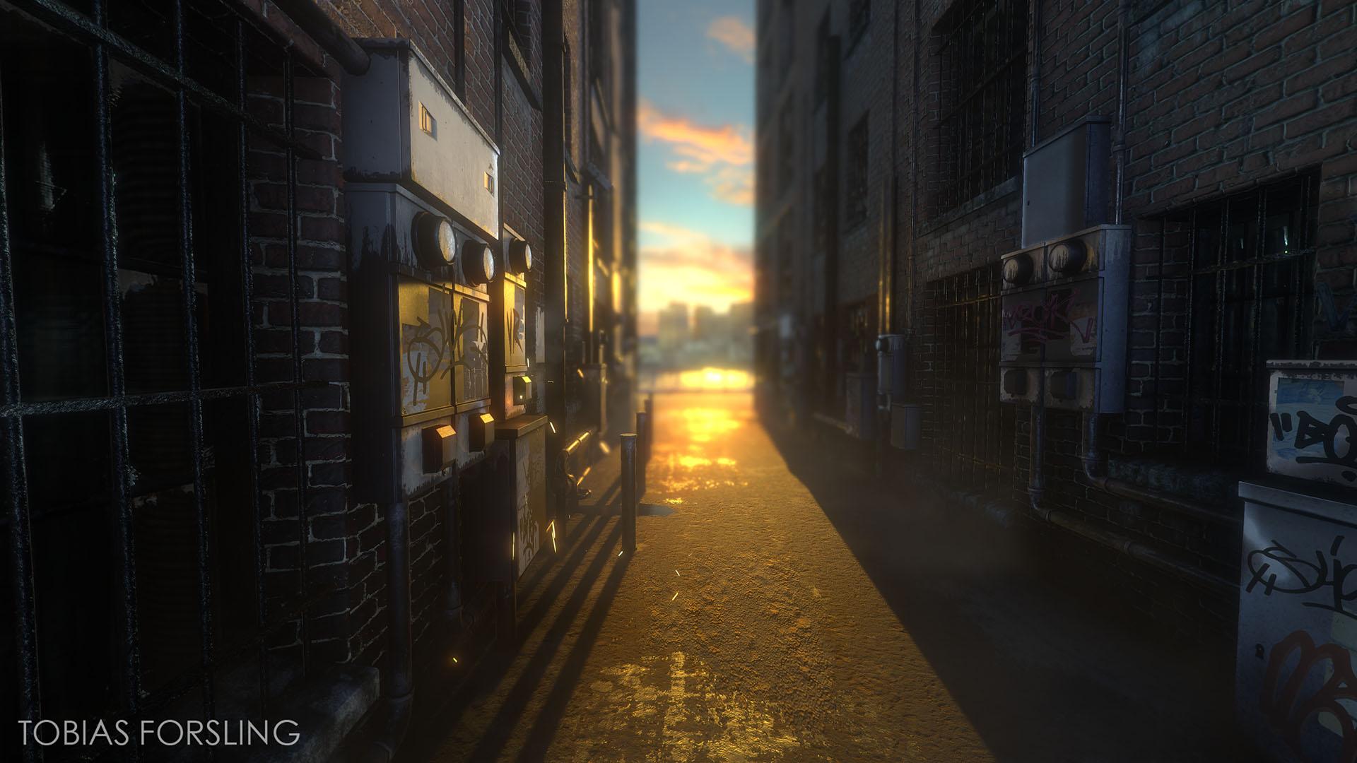 Downtown Alleyway