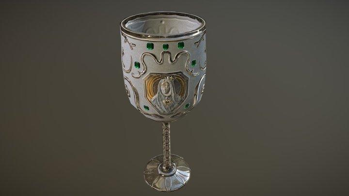 Medieval goblet prop