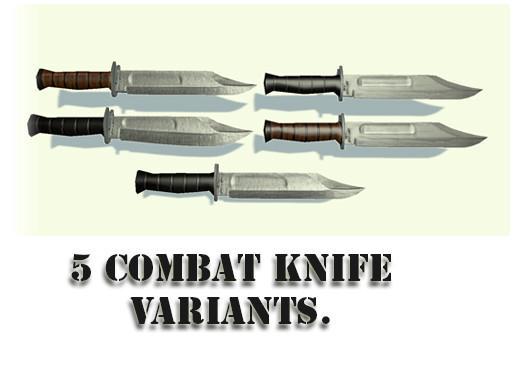 Combat knifes.