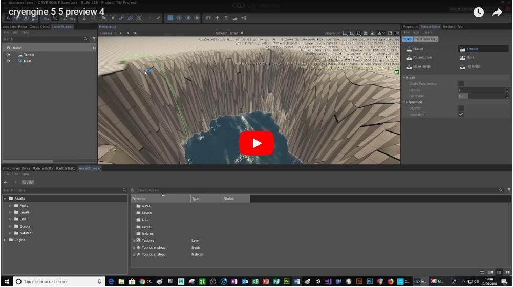 Création d'un petit jeu sur cry engine 5.5 preview 4