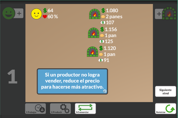 Simflación, educational game for learning about inflation