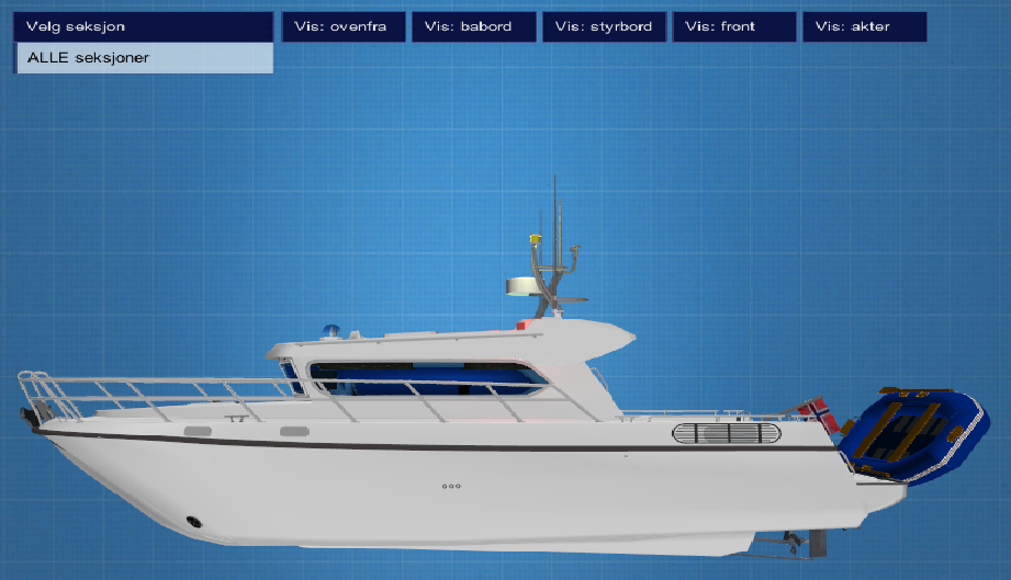Interactive 3d boat
