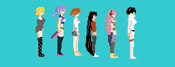Group Photo 2D Sailor Moon Inspired Character Pack