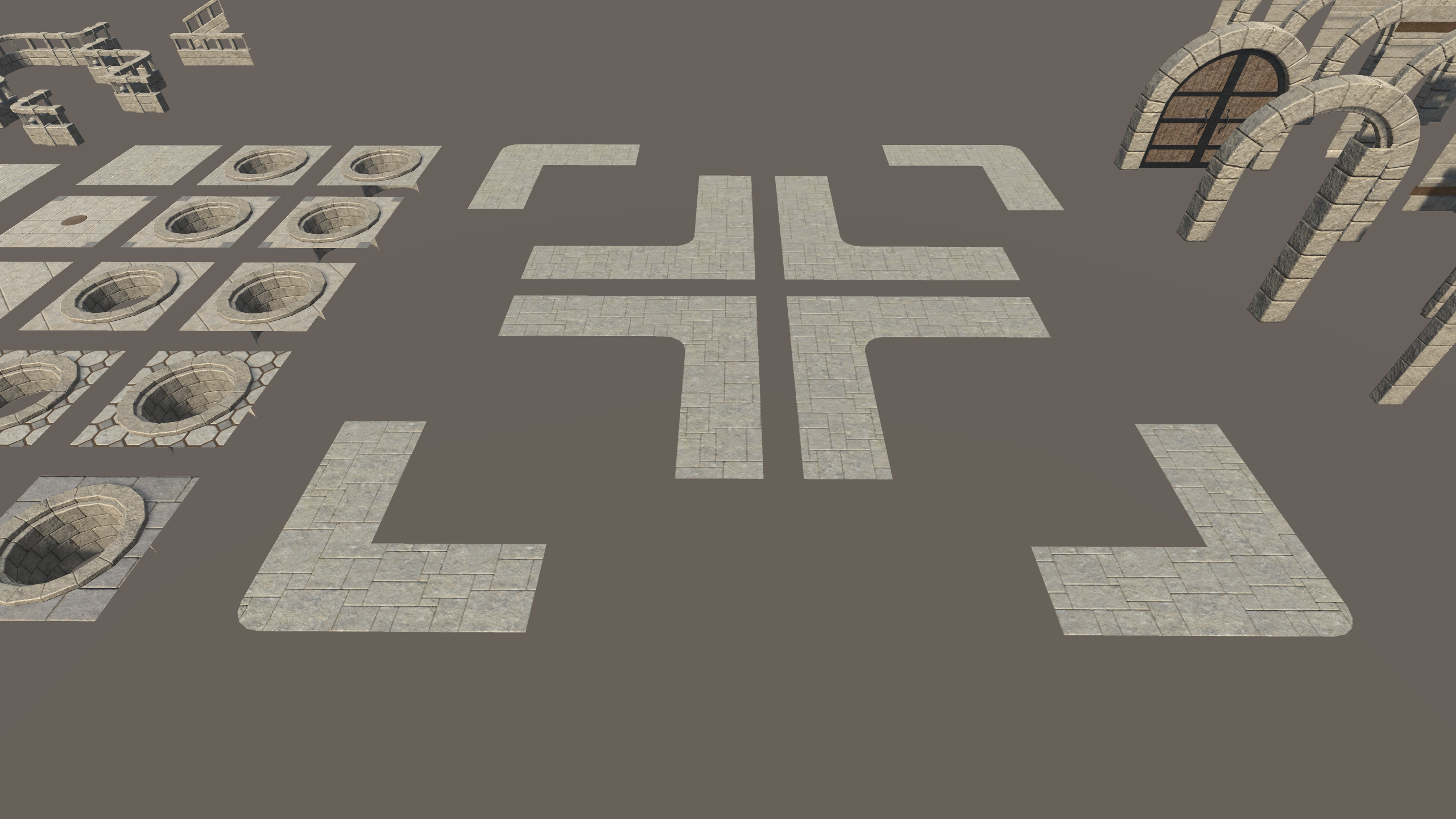 Infi-Dungeon v1.0, Floors, Arches, and Stairs