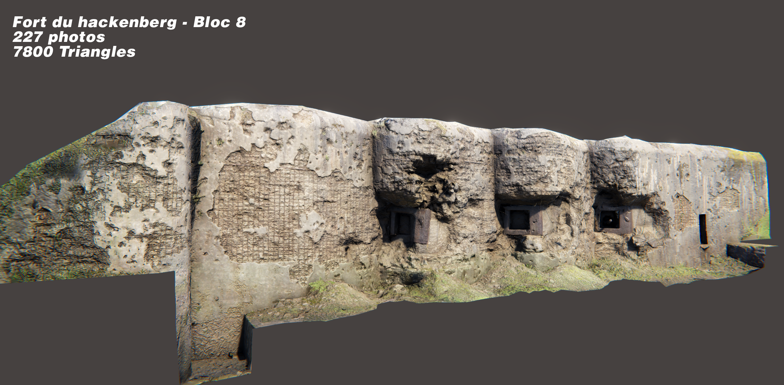 Working on Bunkers (photogrammetry) for the asset store
