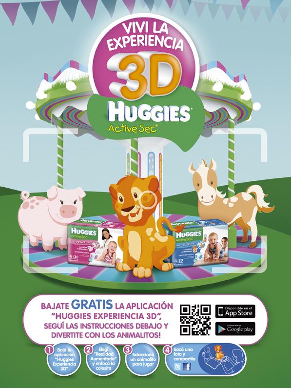 Huggies Experiencia 3D