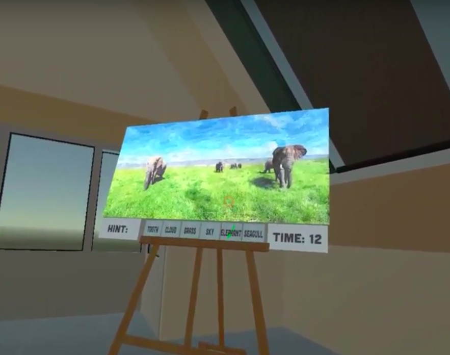 Virtual Reality Painting Puzle