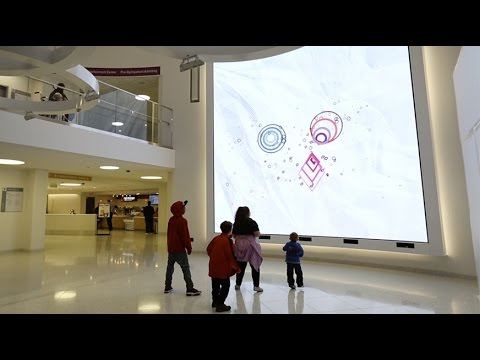 Boston Children's Hospital Interactive Wall
