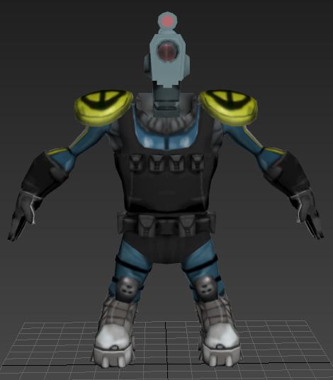 """""""Gunhead"""" 3D Model Class Project"""