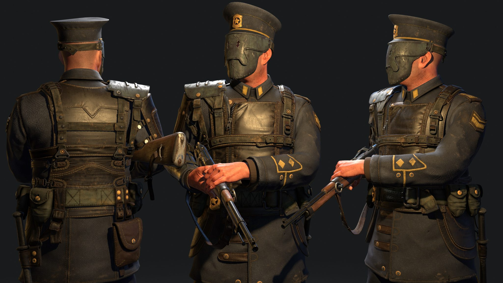 Dieselpunk 3D Character: The Police Officer