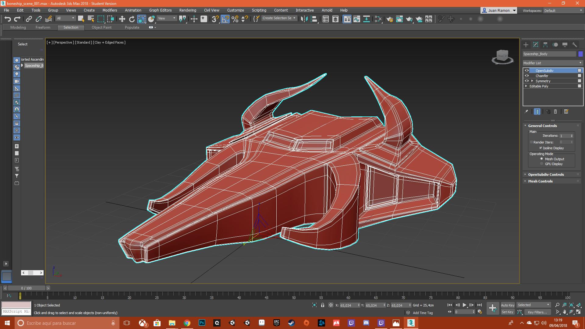 """Spaceship """"BullBreaker"""" 3D Model"""