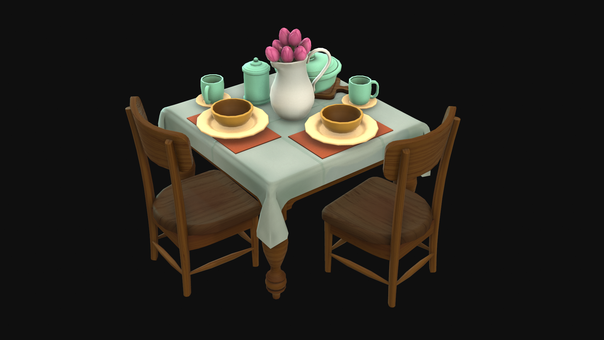 Table - Final Fantasy IX scene fan art asset