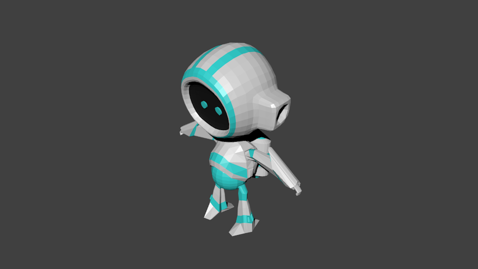 Low poly robot