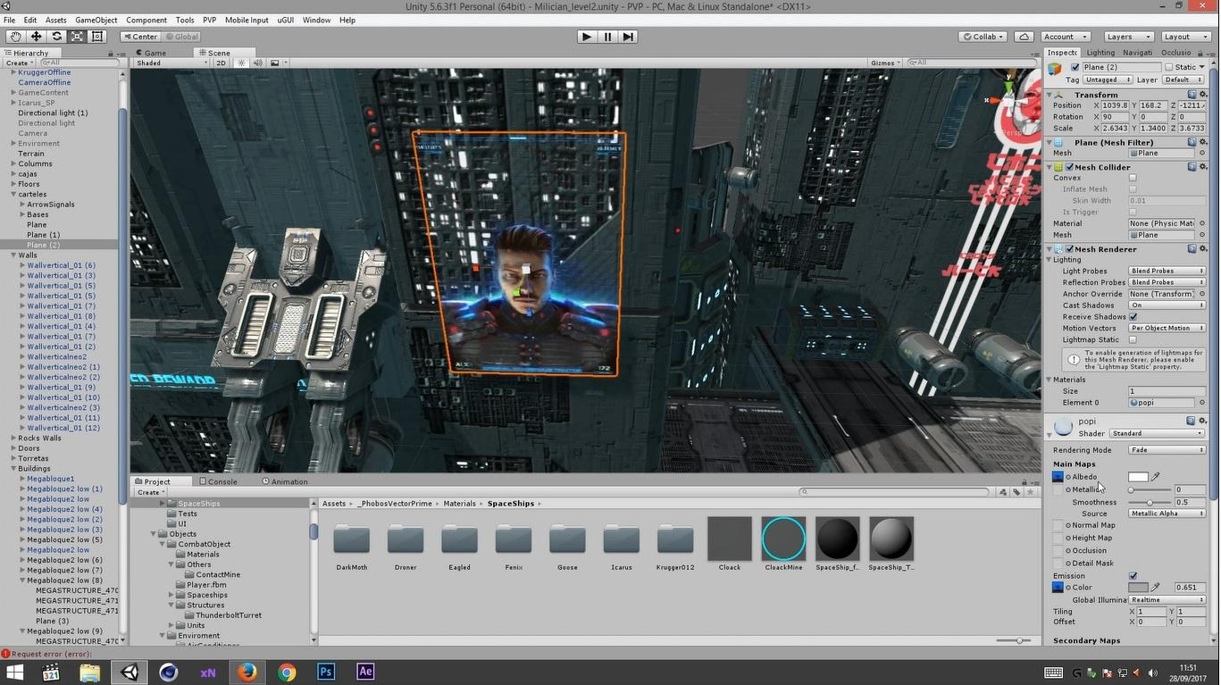 Arán, our 3D artist, working on Phobos Vector Prime