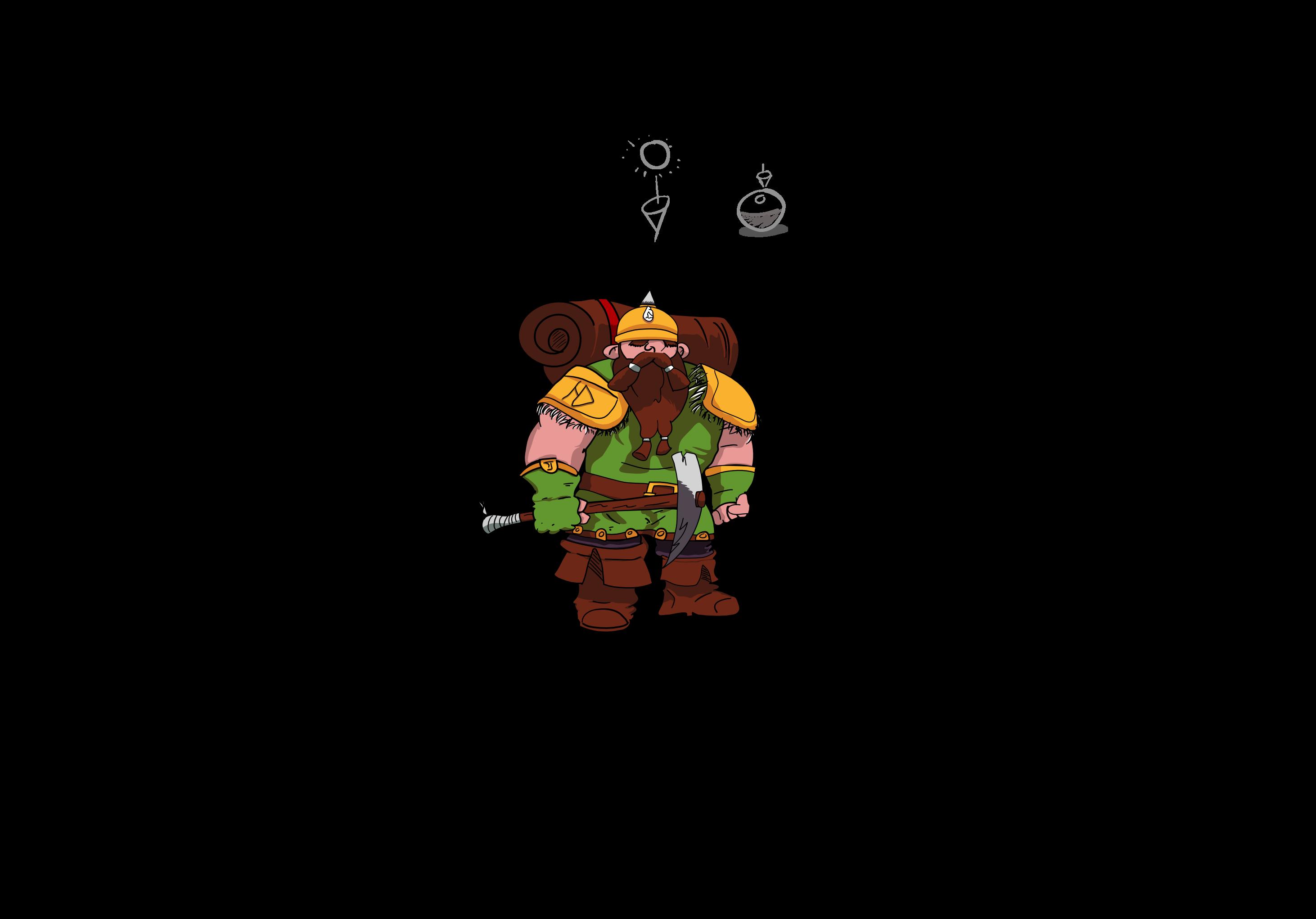 Dwarf Miner Concept Art