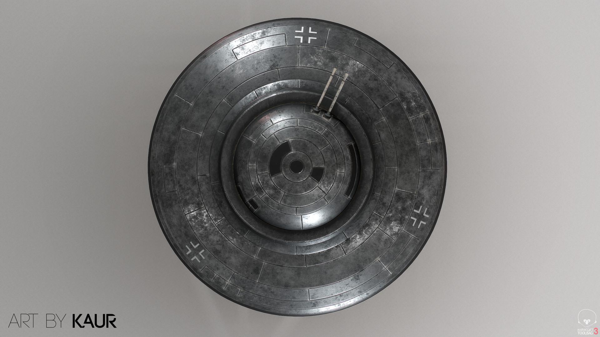 """WWII German Flying saucer """"Haunebu - II"""""""
