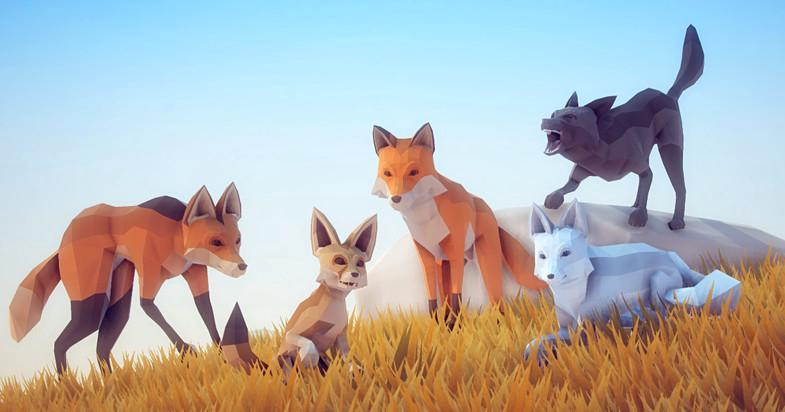 Poly Art: Fox