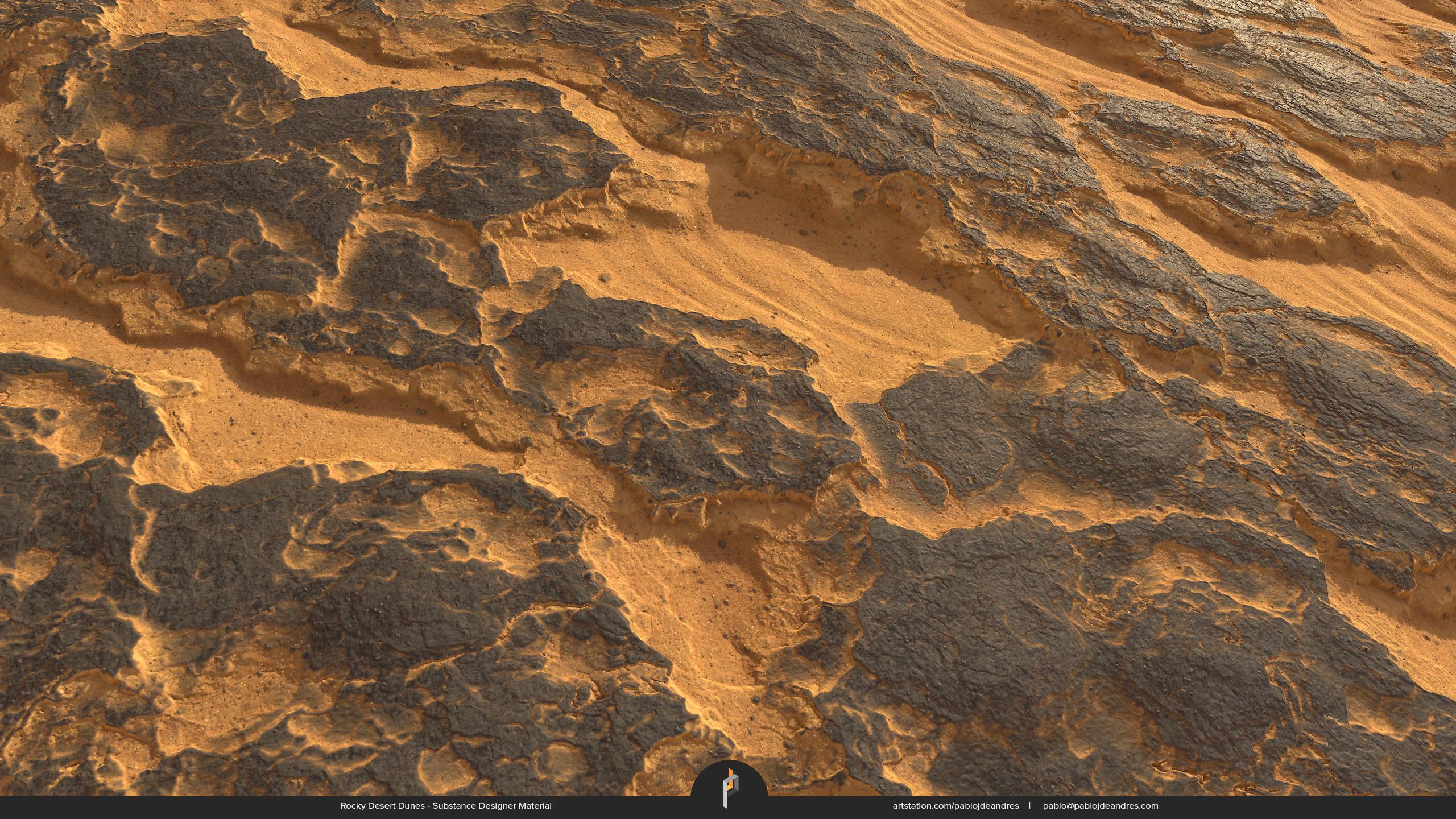 Rocky Desert Dunes - Substance Designer Material