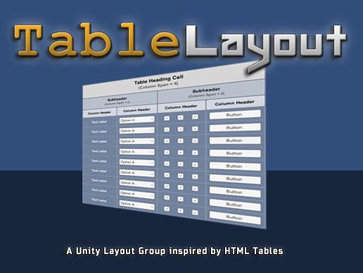 TableLayout: Advanced Layout Group for UnityUI