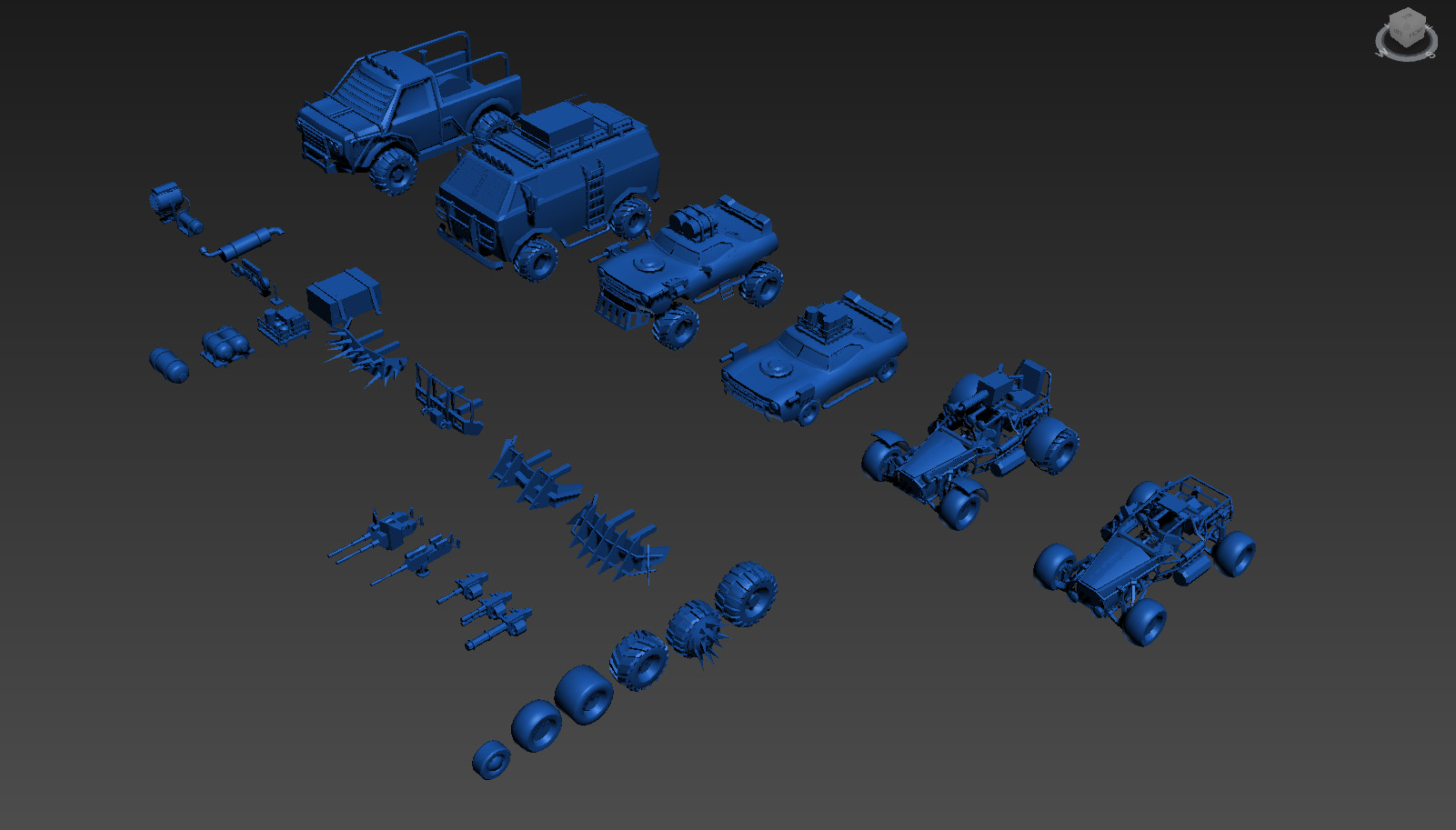 Customizable Cars pack v1 PostApo (available on assetstore)