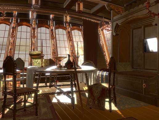 Pirate Captain's cabin