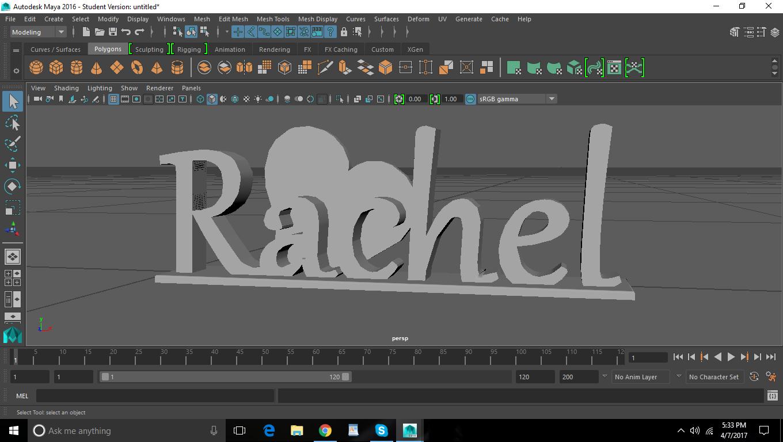 """Rachel's"" Name Tag"