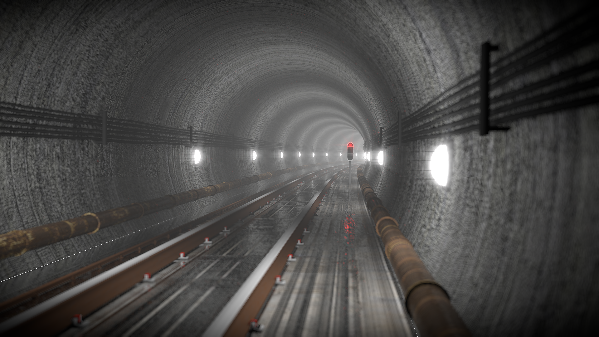 Subway Rail Tunnel
