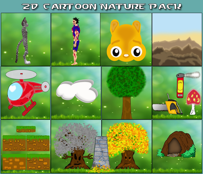 2D Cartoon Nature Pack