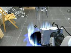 Portal in augmented reality with Google Tango device