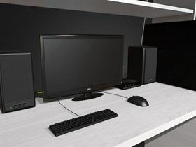 Computer Desk (front view only)