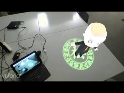 卒業研究「MRシステムにおける投影マーカとジェスチャを用いた仮想オブジェクト操作方法の提案」
